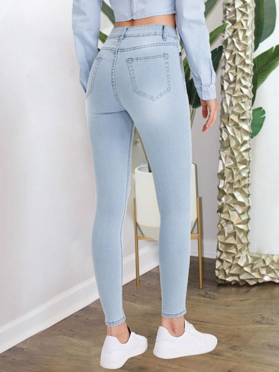 LW BASIC Ripped  Skinny Jeans
