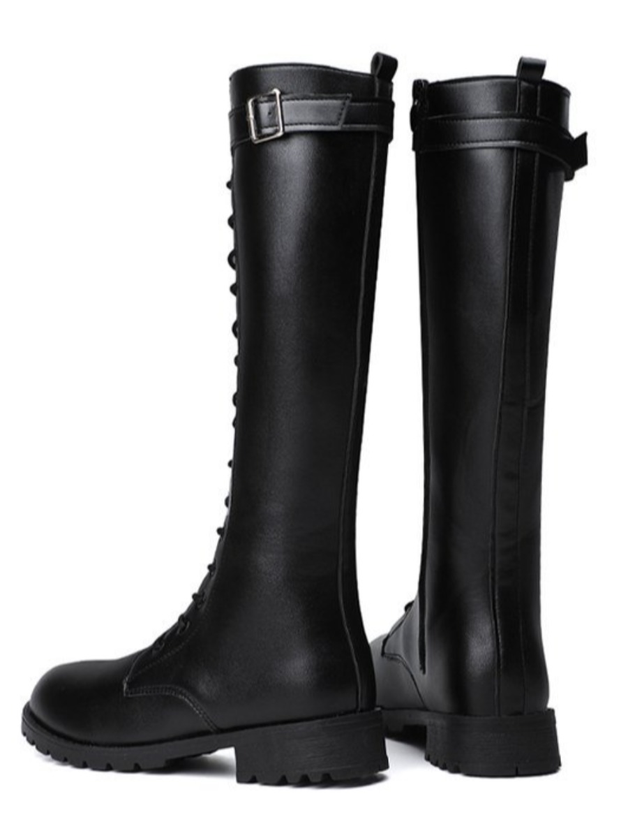 Lovely Buckle Design High Boots