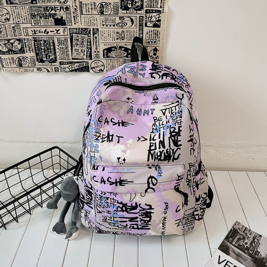 LW Graffiti Print Backpack