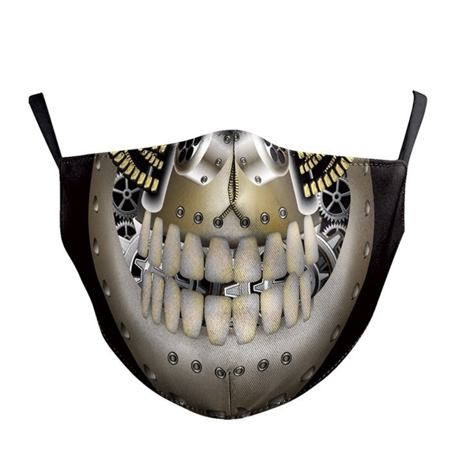 Lovely Cotton Skull Print Face Mask