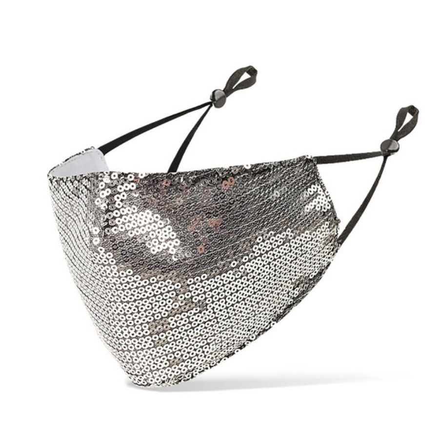 LW COTTON Sequined Face Mask