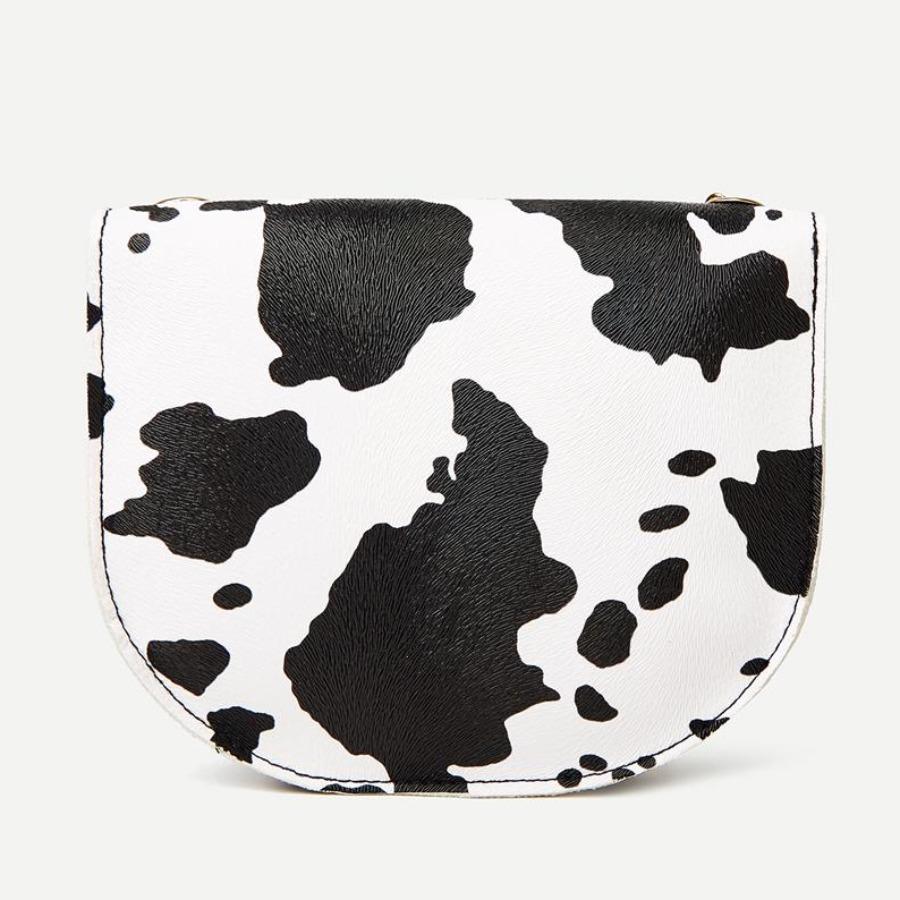 LW Cow Print Chain Crossbody Bag