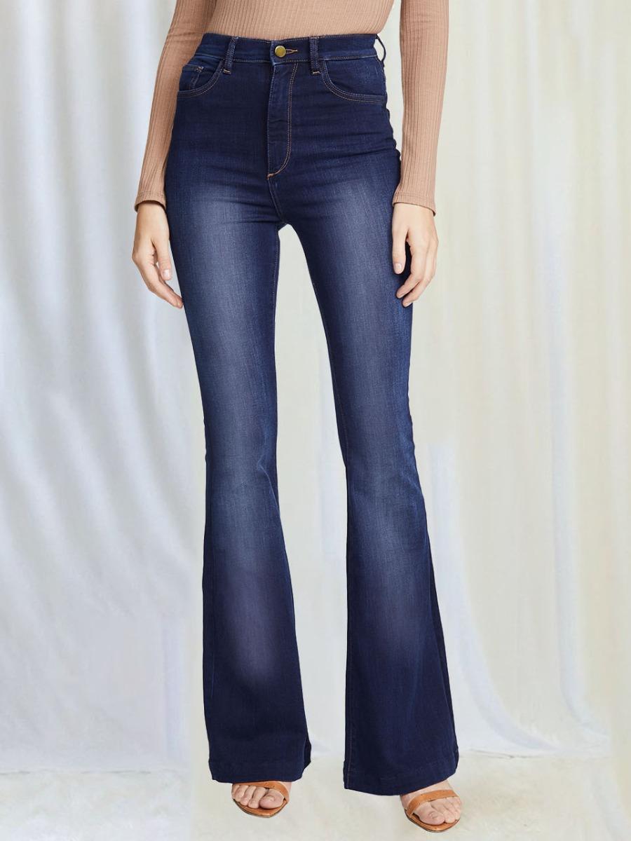 LW BASICS High-waisted Flared Elastic Jeans