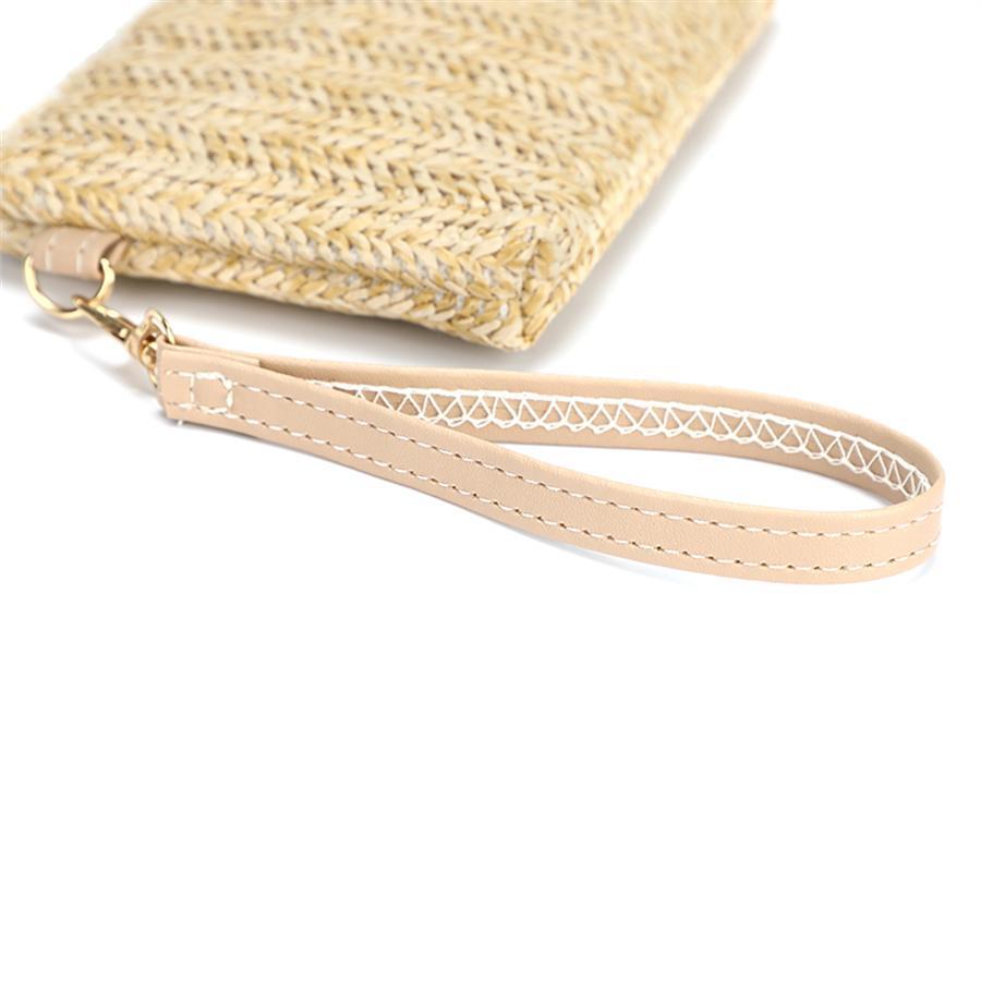 LW Braided Zipper Design Clutches Bag
