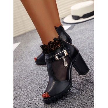 LW See-through Buckle Design Booties, lovely  - buy with discount