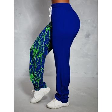 LW High-waisted Print Drawstring Pants