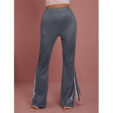 LW BASICS Tassel Design Flared Pants