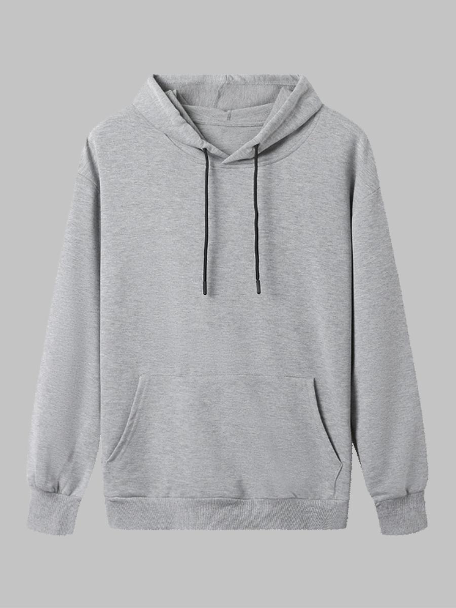 LW BASICS Pullover Pocket Design Sweatshirt