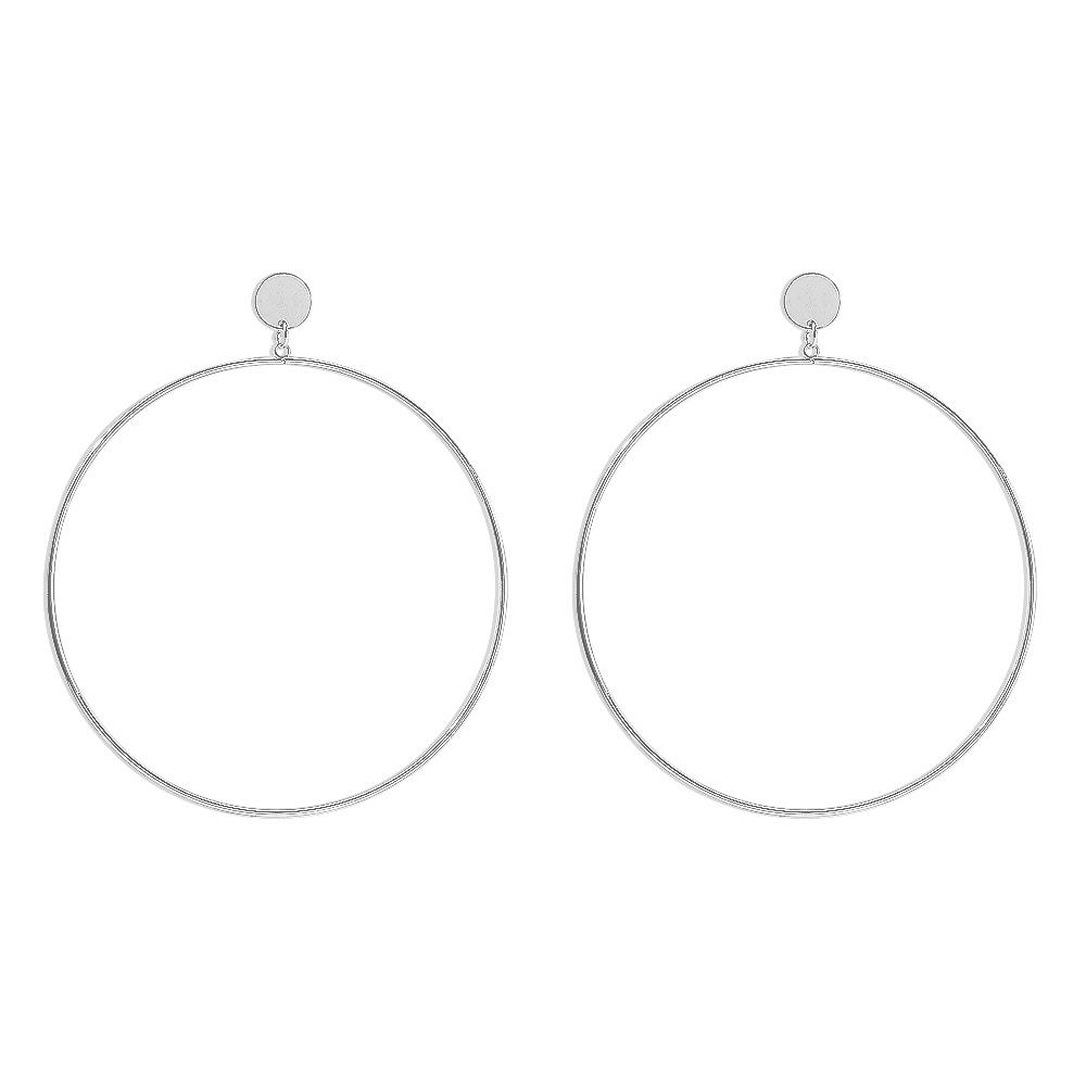 LW BASICS Big Metal Hoop Earrings