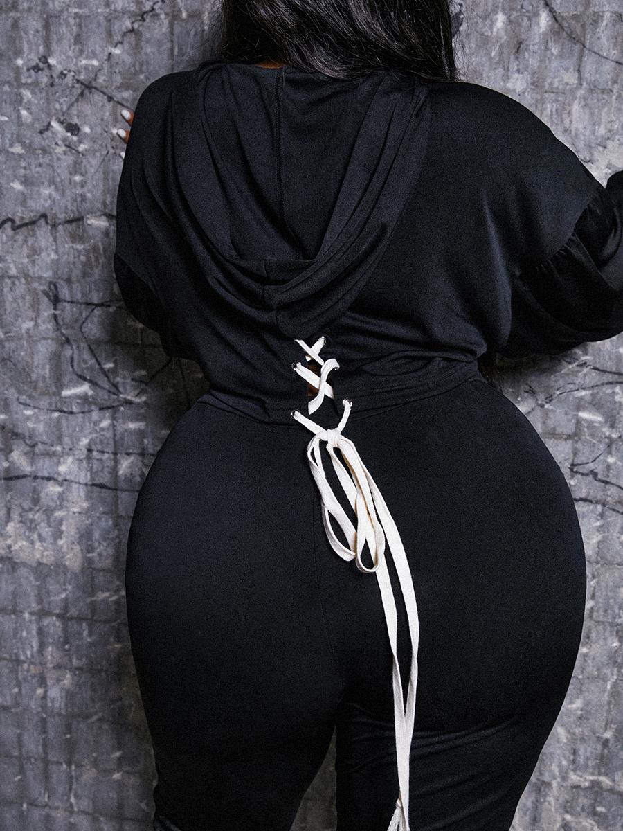 LW Crop Top Bandage Design Pants Set
