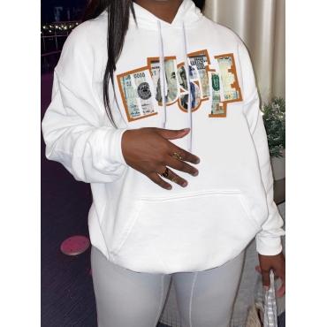 LW Money Print Kangaroo Pocket Hoodie