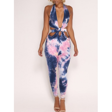 Sexy Hollow-out Polyester One-piece Jumpsuits